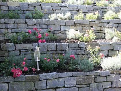 unternehmen grün - gartengestaltung - natursteinmauern und treppen, Best garten ideen